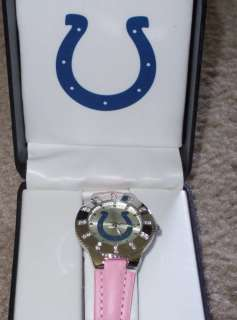 AVON LADIES NFL INDIANAPOLIS COLTS QUARTZ ANALOG WATCH