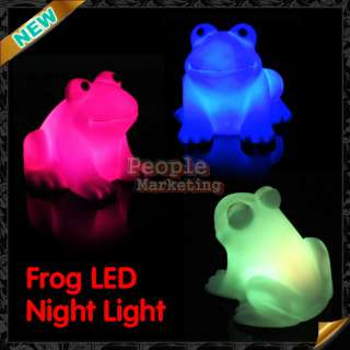 Cute Frog Novelty Lamp Changing Colors Night Light Colorful Magic LED