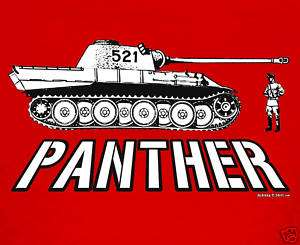 PANTHER TANK GERMAN ARMY WWII RC PANZER MODEL T SHIRT