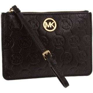 Michael Kors Saffiano Leather Medium Wristlet Electric