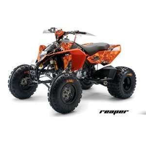 AMR Racing KTM 450, 525 and 505 ATV Quad, Graphic Kit   Reaper Orange