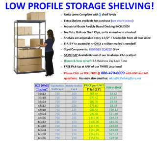Garage Storage Shelving   Commercial Grade Double/Single Rivet Beam