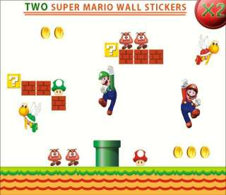 TWO/2 Super Mario Wall Stickers Scene Re Positionable