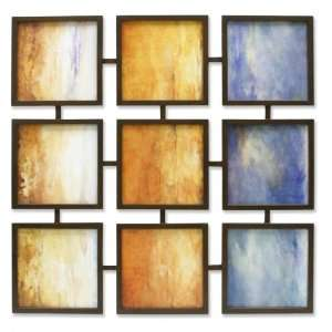 Contemporary Modern Abstract Wall Art 9 Panel