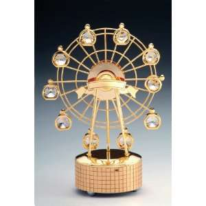 Ferris Wheel 24K Gold Swarovski Crystal Music Box