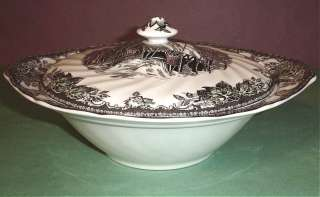 Johnson Bros. Friendly Village Covered Round Vegetable Bowl New