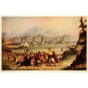 1944 Print Wind River Mountains Snake Indians Plateau 1837