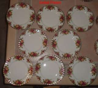 1962 Royal Albert Old Country Roses Bone China 57 Pc. 8 Place Settings