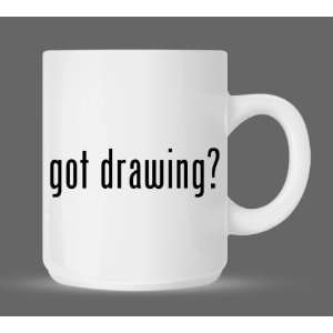 got drawing?   Funny Humor Ceramic 11oz Coffee Mug Cup