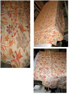 FRENCH ANTIQUE TAPESTRY BED COVER BEDSPREAD *BEAUTIFUL*