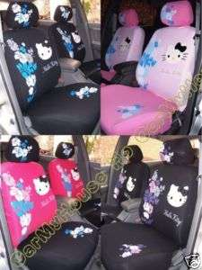 Hello Kitty Flowers Car Seat Cover 10pcs 4 Colours