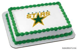Dallas Stars Edible Image Icing Cake Topper