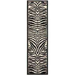 Lyndhurst Collection Zebra Black/ White Runner (23 x 12)