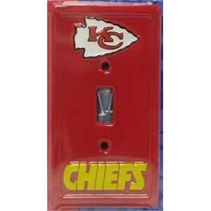 2 NFL Kansas City Chiefs Sculpted Light Switch Plates