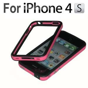 Bumper Frame TPU Silicone Case for iPhone 4S and CDMA 4 W/Side Button