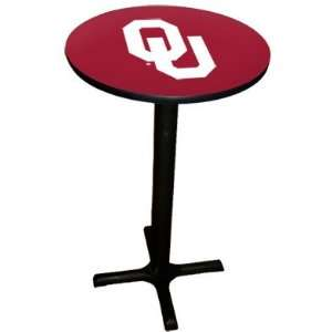com Oklahoma Sooners College Laminated Pub Table w/black trim & black