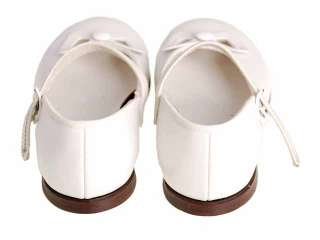 Vintage Girls Dress Shoes White Leather Mary Janes 1950s NIB