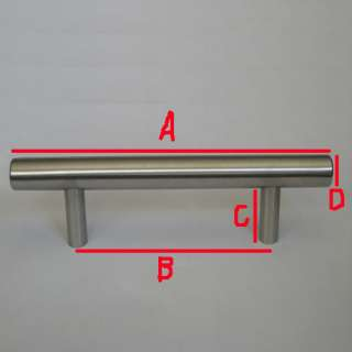 10  24 Stainless Steel Cabinet Hardware Bar Pull Handle T