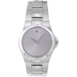 Movado Mens Luno Stainless Steel Watch