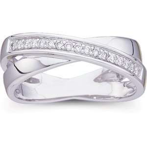 Size 07.00/ 1/6 CT TW 14K White Gold Diamond Ring Jewelry