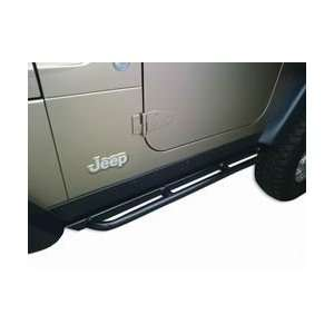 1997 2006 Jeep Wrangler Rockcrawler Side Guards 4 Mil Black Powder