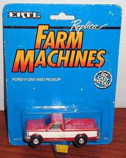 F250 PICKUP TRUCK HTF RED FARM MACHINES MOC 1/64 DIE CAST METAL