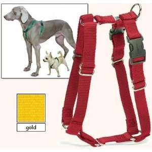 Sure Fit Dog Harness, 5 Way Adjustability for a Perfect Fit (Gold, X