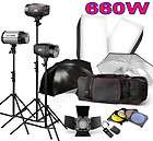 Photo Studio Umbrella Flash Lighting Kit Strobe Light 10 Stand 2