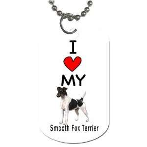 I Love My Smooth Fox Terrier Dog Tag