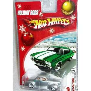 Hot Wheels 2005 Holiday Rods 1940 Ford Coupe SILVER 4/5 Toys & Games