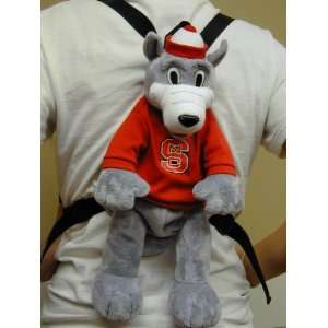 North Carolina State Wolfpack Plush Team Mascot String BackPack NCAA