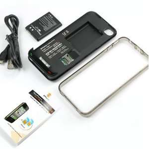 Dual 2 SIM Card Power Case Battery Back Cover For Apple iPhone 4 Cell