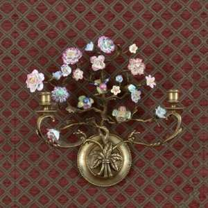 Flower Tree Bird Paradise Pattern Wall Hanger Sconce