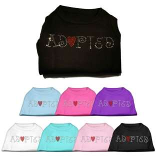 Adopted Pet Dog Shirt Clothes Great for rescue groups