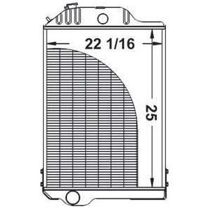 New Radiator AR48735 Fits John Deere 4320