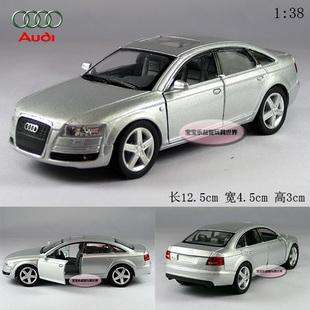 New AUDI A6 138 Alloy Diecast Model Car Silver B110c