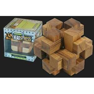 XS Head Stress Wooden Brain Teaser Puzzle (Connection) Toys & Games