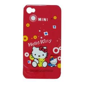 iPhone 4 Cover Hello Kitty Red Mini W/ Teddy Bear Yellow