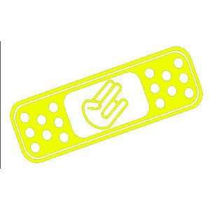 com BAND AID SHOCKER CUSTOM   8 YELLOW   Vinyl Decal WINDOW Sticker