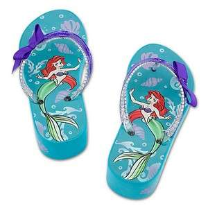 LITTLE MERMAID ARIEL DISNEY PRINCESS Aqua Platform Flip Flops Beach
