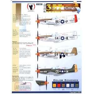P 51 Mustang 357th Fighter Group, Part 4 (1/48 decals