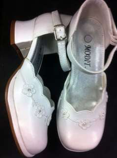 Girl Dress Shoes White Color (Many size available)