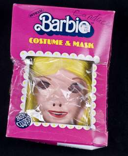 Ben Cooper BARBIE Halloween Costume & Mask Child Size 12 14 Vintage