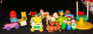 Vintage Fisher Price Cars & Little People Large Lot