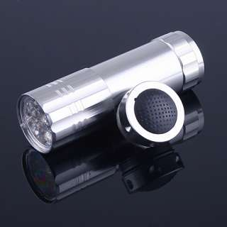 New Pocket 9 LED Handheld Flashlight Lamp Torch Lights