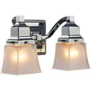 Hampton Bay 2 Light Chrome Bath Light 05659