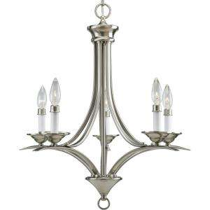 Progress Lighting Trinity Collection Brushed Nickel 5 light Chandelier