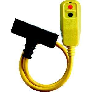 Tower Manufacturing Corporation 2 ft. Right Angle GFCI Triple Tap Cord