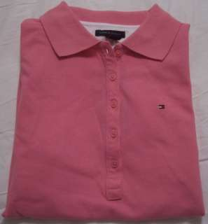 Womens TOMMY HILFIGER $40 Pink Polo Shirt NWT