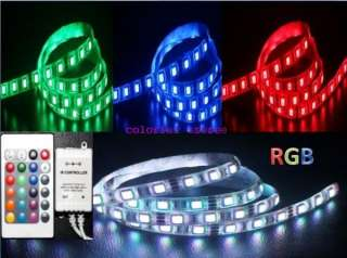 5M SMD 5050 RGB Waterproof LED Strip light 2connectors